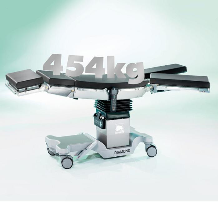 DIAMOND Universal Operating table - Electrohydraulic adjustment and manual override for 2 levels of safety