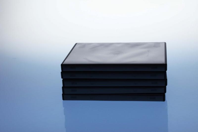 DVD Box 3-fach mit Tray - 14mm - 5er Pack - schwarz - Retailverpackungen & Zubehör