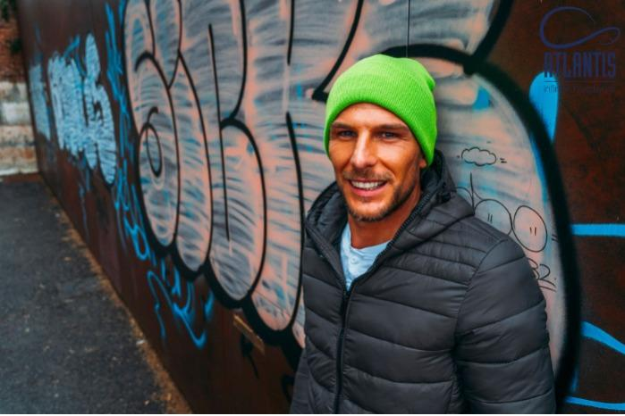Cuffia invernale in maglia per promozioni e pubblicita'  - Cuffia invernale in maglia di lana/acrilico personalizzabile