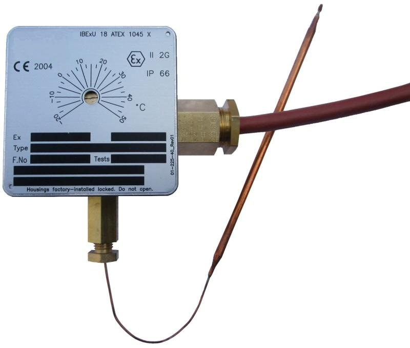 Ex-Thermostat - Temperature adjustment with knob or with screw