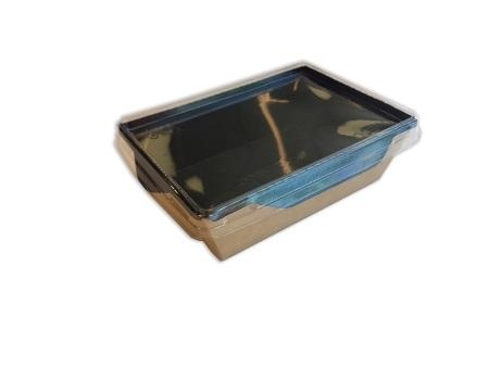 Salad Box with transparent plastic cover - Black Edition available
