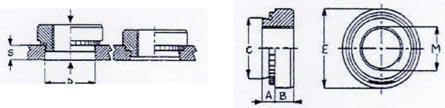 BOCCOLE FILETTATE AUTOAGGANCIANTI BFAU IN - Elementi di fissaggio complementari