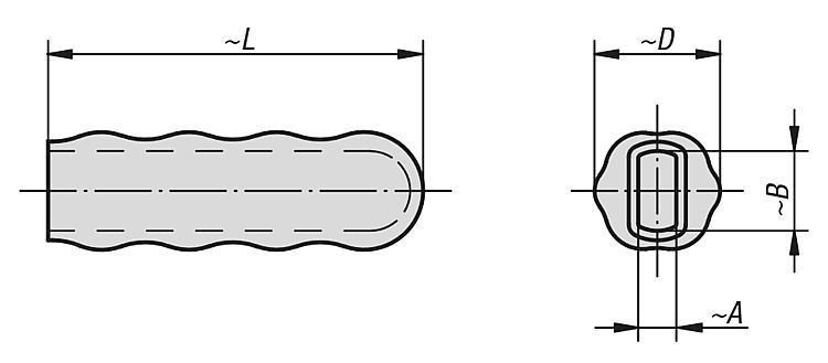 Poignée plastique - Accessoire