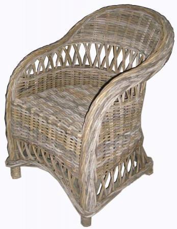 Roma Arm Chair - in Grey Kubu Rattan