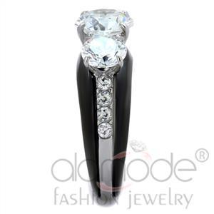 Fashion Rings - Stainless Steel AAA Grade CZ Ring