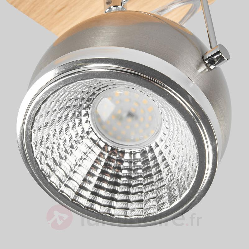 Plafonnier LED Ball Wood chêne huilé 1 lampe - Spots et projecteurs LED