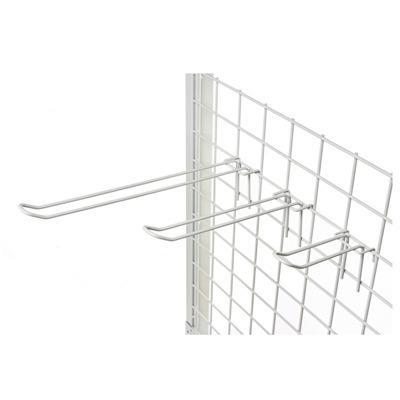 Steel wire display hooks for wire supermarket mesh -