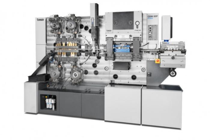 Autómata de estampado y doblado GRM 80P híbrido - Sistema de producción mecánica con ejes NC
