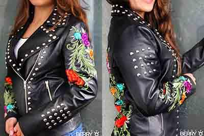 Embroidered & studded leather jackets