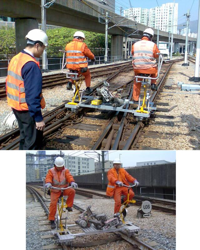 Vélo-rail d'inspection de la voie et d'interventions urgentes - null