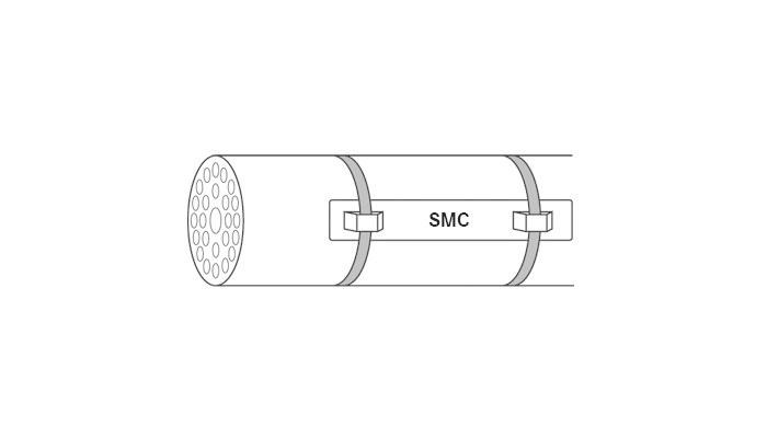 Cable marking stainless steel - Customized system cable marking,  FLEXIMARK® Stainless Steel FCC