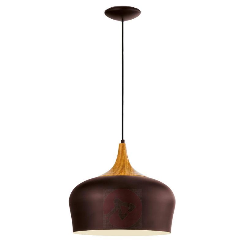 Obregon - elegant pendant lamp in brown - indoor-lighting