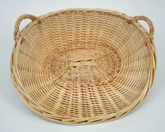 Panier à porter (Boulangerie) osier blanc - null