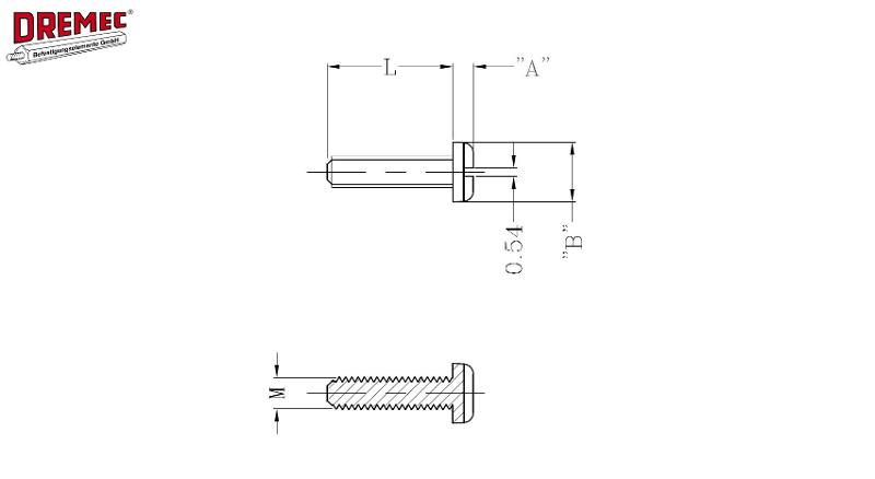 Slotted Cheese Head Screw - null