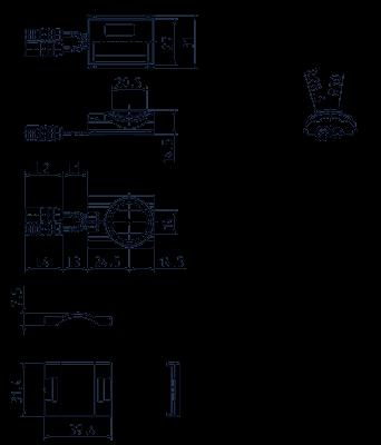 Capteur multifonctions, détection automatique de la tension - IRS-UWS-x.-