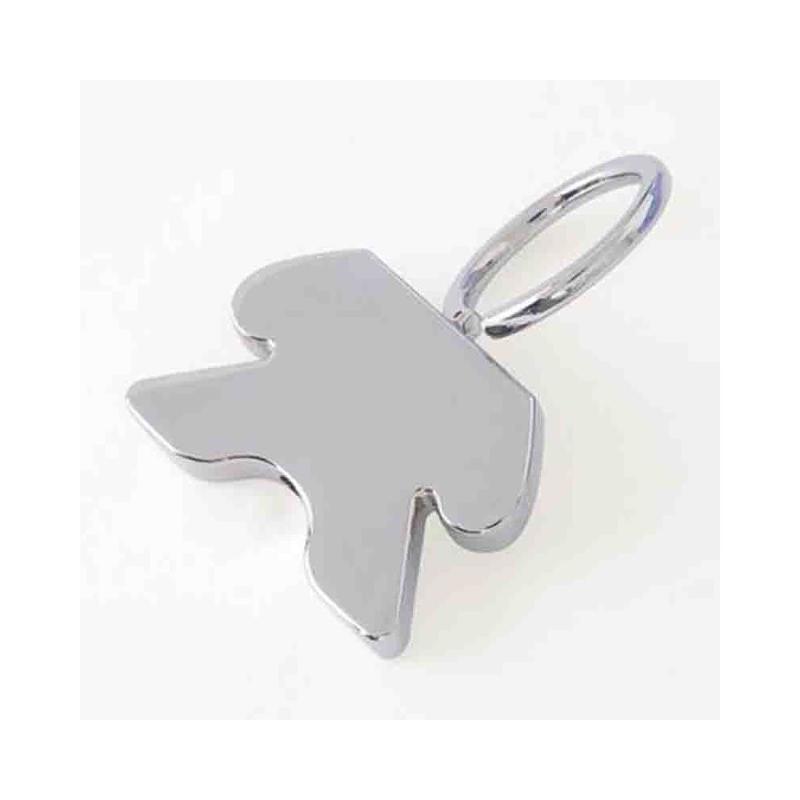 Porte-clef figurine métal brillant - Porte-clés métal