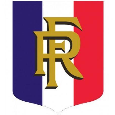 Écusson Porte-drapeaux Tricolore + Rf Gamme Éco - Cérémonies Officielles