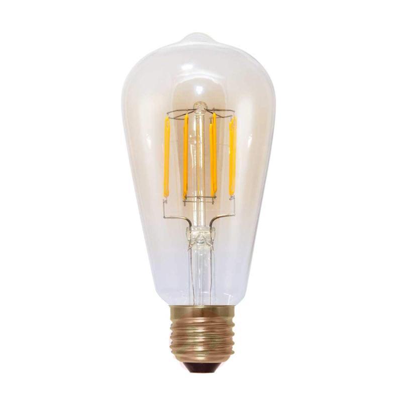 E27 6 W 820 LED rustical lamp G95 carbon filament - light-bulbs