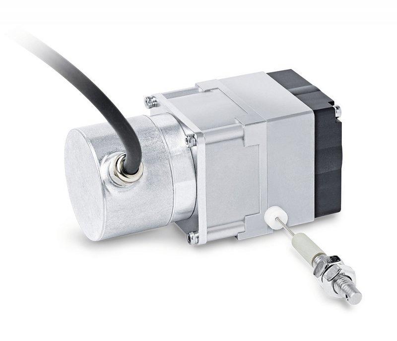 线拉编码器 SG21 - 线拉编码器 SG21, 用于旋转编码器安装的小型结构测量长度达 2000 mm