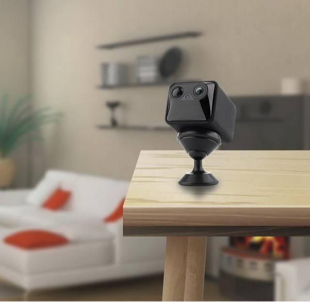 Caméra Espion WiFi Infrarouge Invisible Autonomie 1 an - Batterie rechargeable avec l'autonomie jusqu'à 1 an