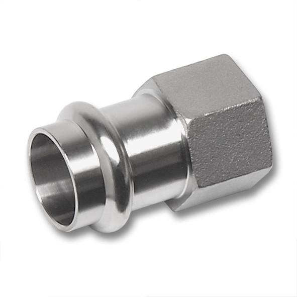 NiroSan® Female adaptor - NiroSan® Female adaptor, Premium stainless steel press fitting system
