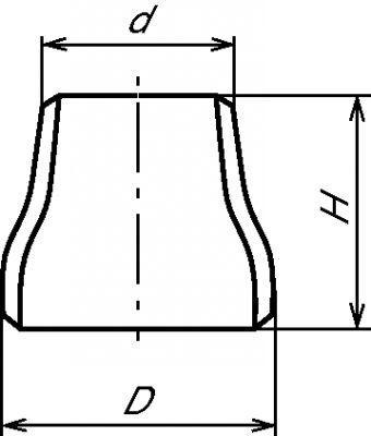 RÉDUCTION CONCENTRIQUE  - ANSI SCHEDULE 10S ROULÉE SOUDÉE (5926)