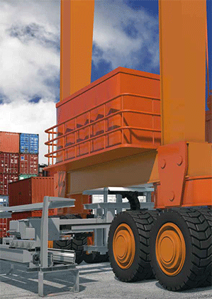 Automatic coupling of echains® – igus®extensions for harbor cranes, e.g. RTG (Ru - null