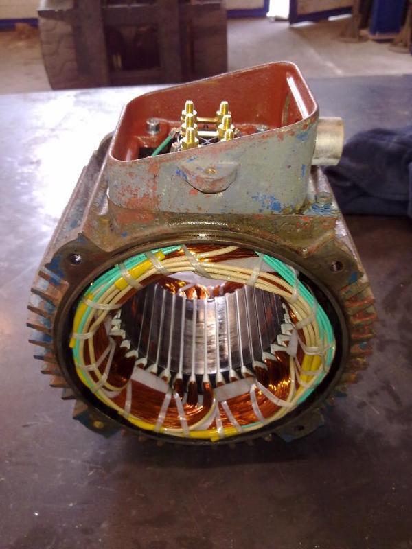 Stator bobiné - Maintenance électro-mécanique en atelier