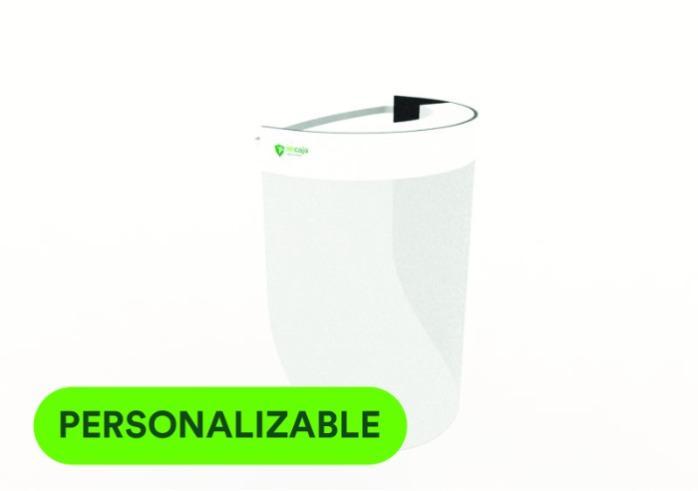 Pantalla o mascara de protección facial personalizable - Visera de protección facial personalizable, muy ligera
