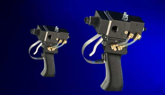 Misch- und Dosierpistole aus Edelstahl und Aluminium - PMS Serie 2-K Pistole