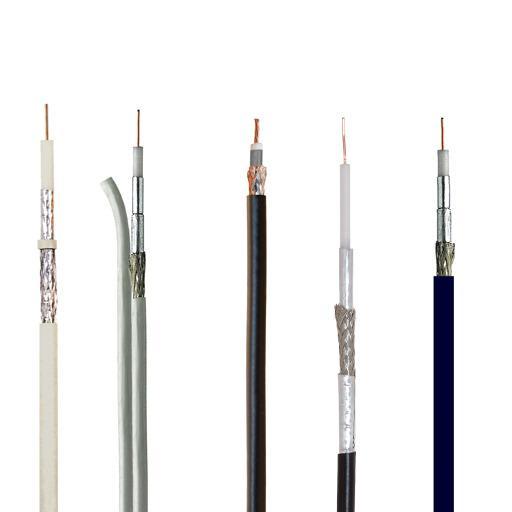 CATV: kablar för nedlänkning/satellitdistribution. -