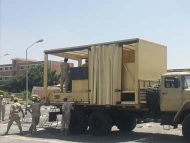 PDPOL - CBRN DECON RAPID DEPLOYMENT SYSTEM on truck