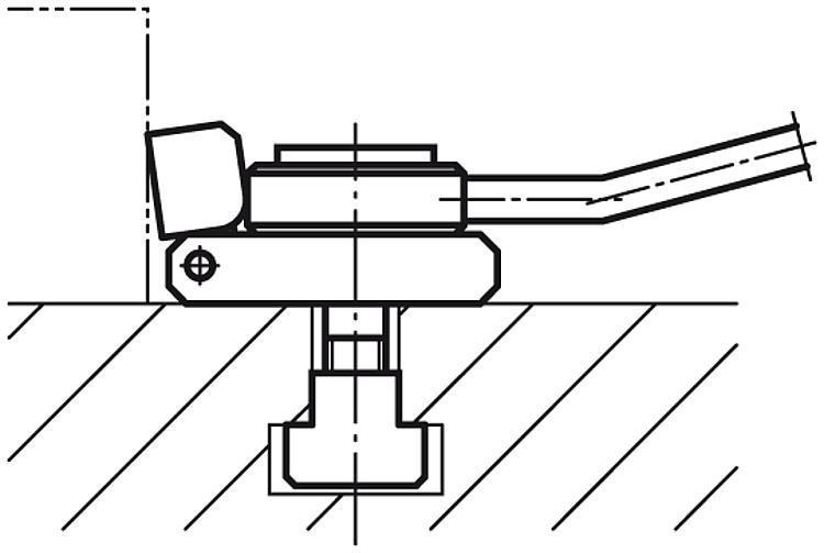 Crampon plaqueur à levier - Crampons, mors de serrage, vis et écrous de serrage