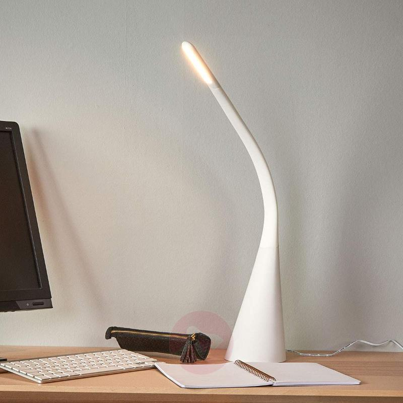 Stylish LED table lamp Majani, dimmable and USB - Desk Lamps
