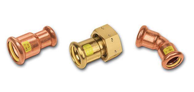 Kupfer-Rohrleitungssystem SANHA®-Press Gas