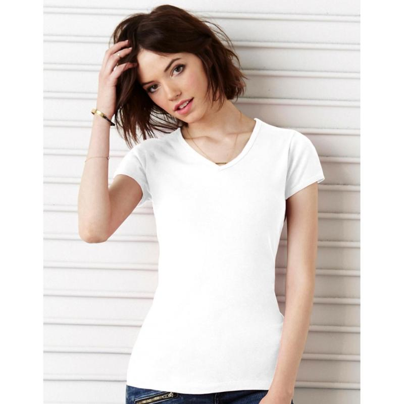 Tee-shirt col V Ringspun - Manches courtes