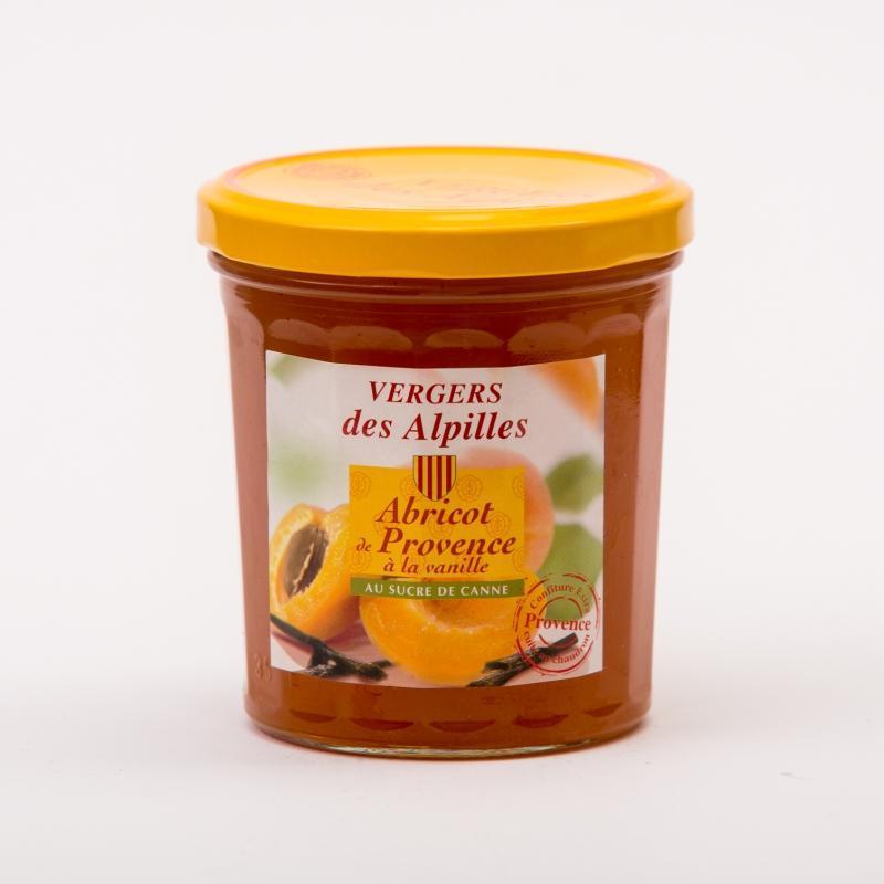 confiture d'abricots de Provence à la Vanille - Confitures au sucre de canne Vergers des Alpilles
