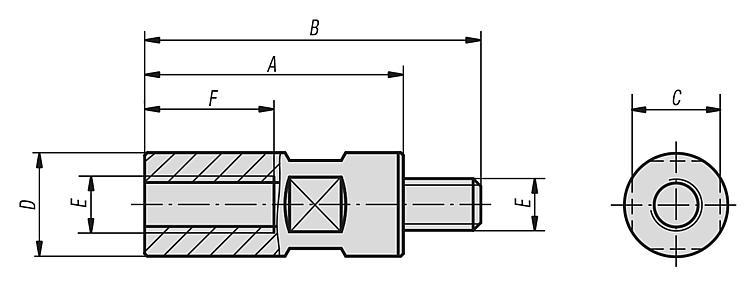 Extensions for jack screws - Clamping and alignment elements