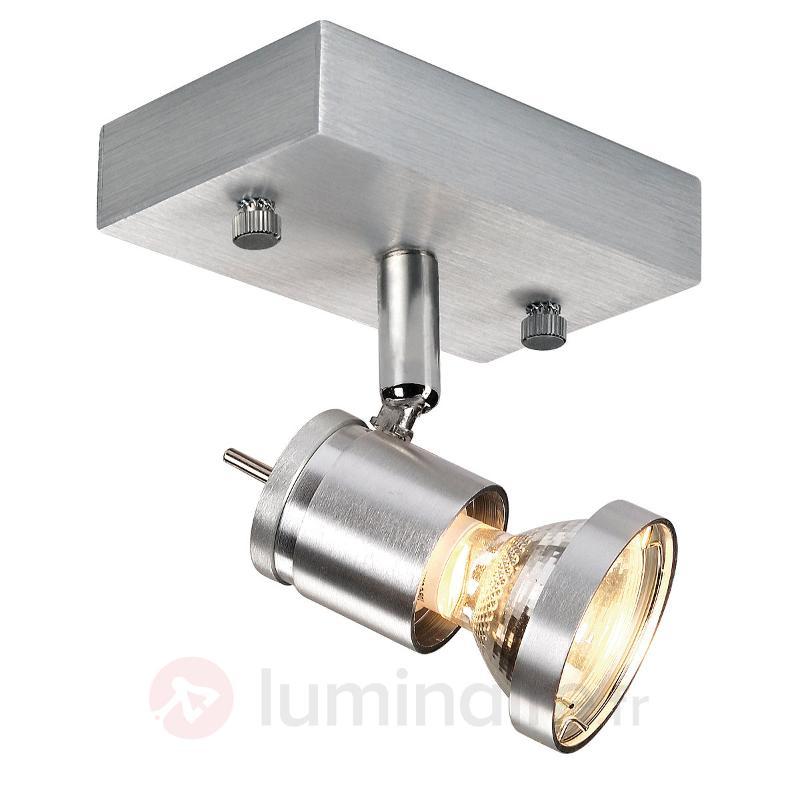 Spot plafonnier Asto 1 lampe avec anneau décoratif - Spots et projecteurs halogènes