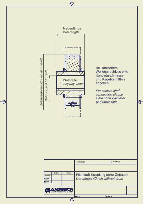 Fliehkraft-Kupplungen ohne Gehäuse - Fliehkraft-Kupplungen ohne Gehäuse