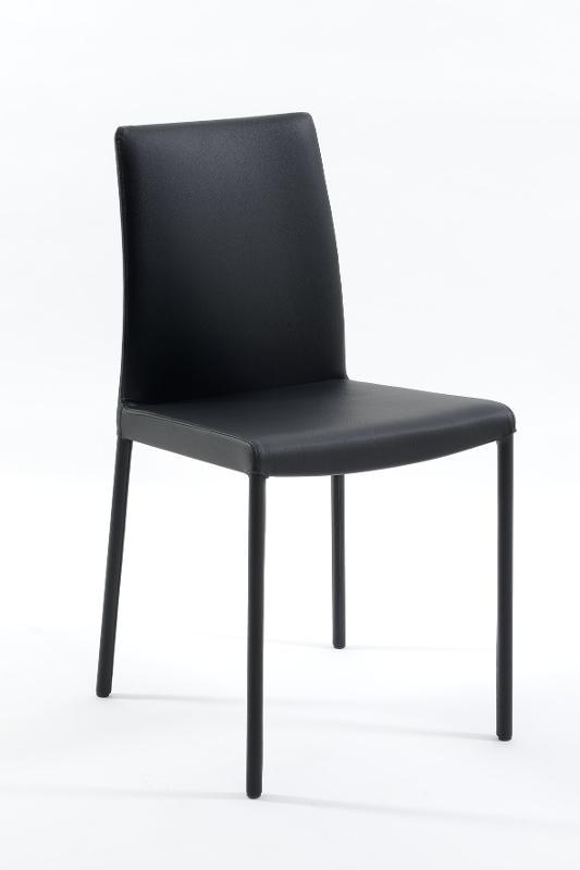 sedia nera da interni - sedie e sgabelli