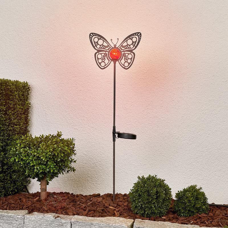 Belle lampe décorative solaire LED Papillon - Lampes solaires décoratives