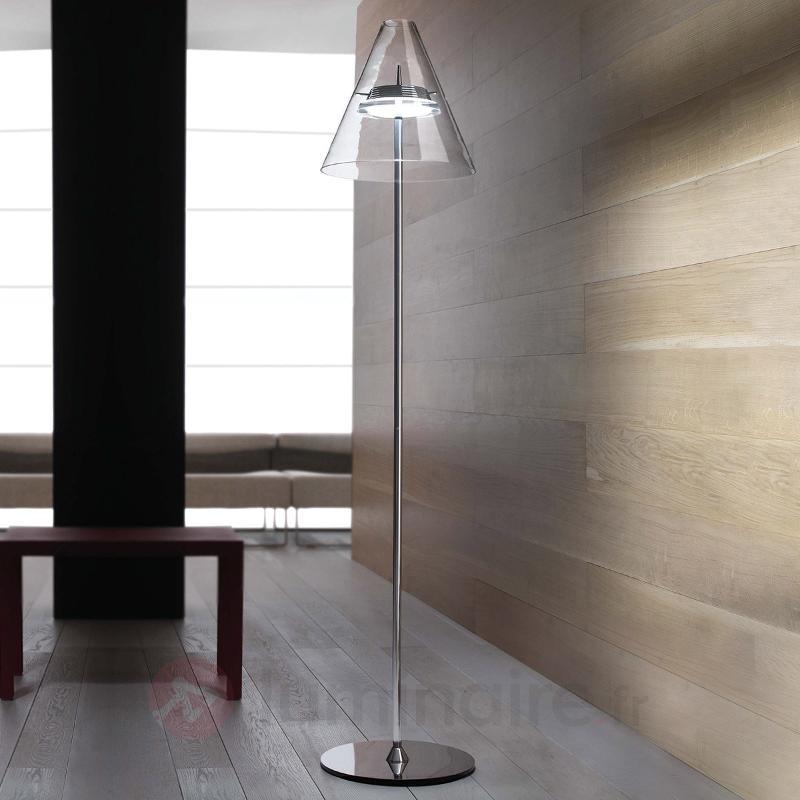 Lampadaire LED Caprina transparent - Lampadaires LED
