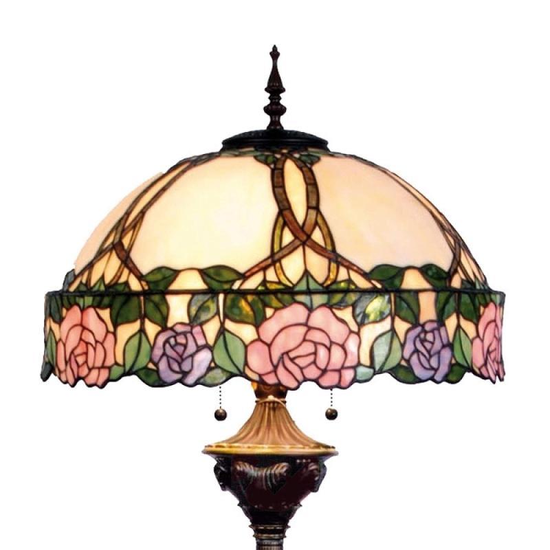 Fabulous floor lamp Emily, Tiffany-style - indoor-lighting
