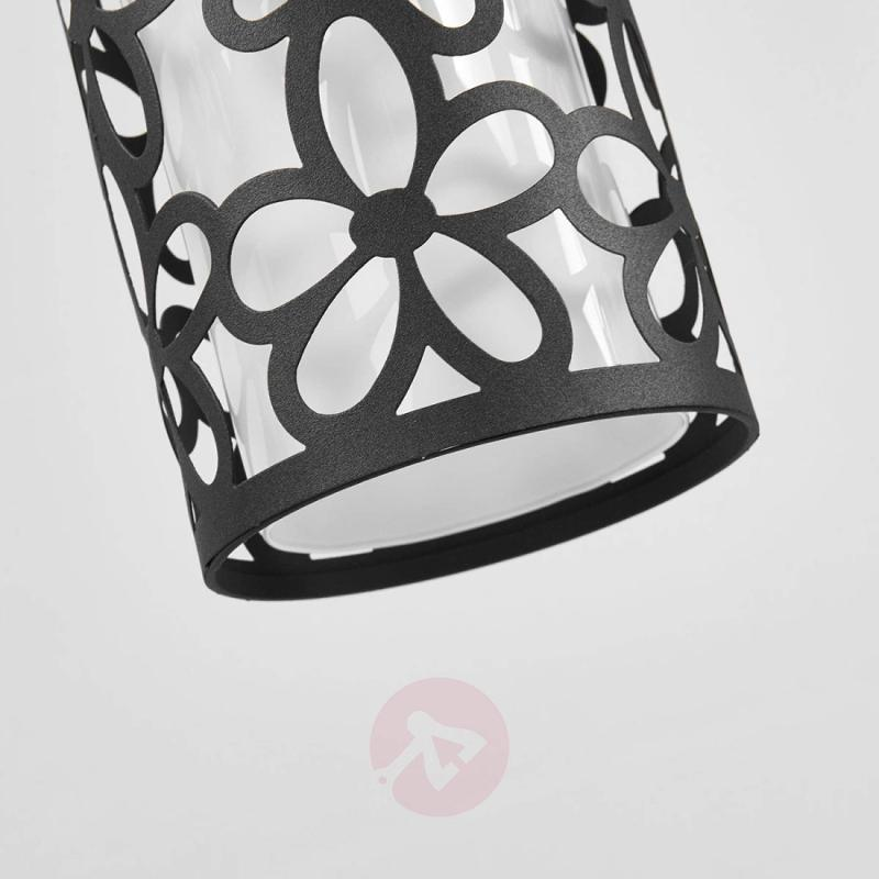 Black hanging light Suite with floral pattern - indoor-lighting