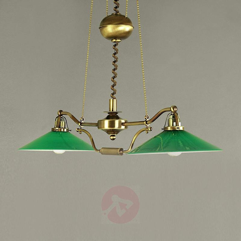 Verdina Hanging Light in Patina Look Green - Pendant Lighting