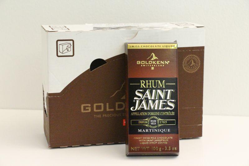 Goldkenn swiss Milk Chocolate Filled With Saint James Rum -