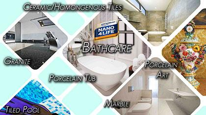 NANO4-BATHCARE - Invisible protection , sealing ,easy to clean for porcelain surfaces
