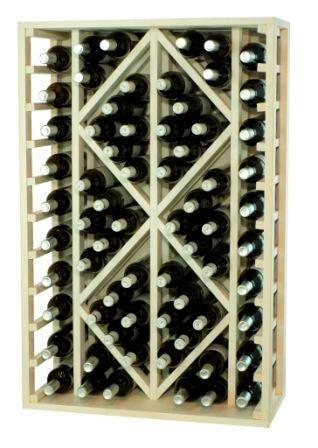 Botellero teñido en blanco , con capacidad para 68 botellas.