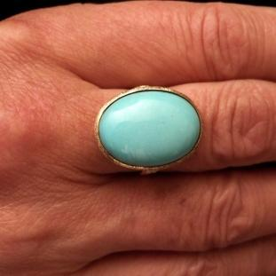 Bagues - Or 18ct, turquoise, Italie
